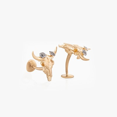 CIRCLE OF LIFE COW CUFFLINKS