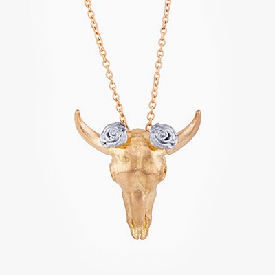 CIRCLE OF LIFE COW NECKLACE