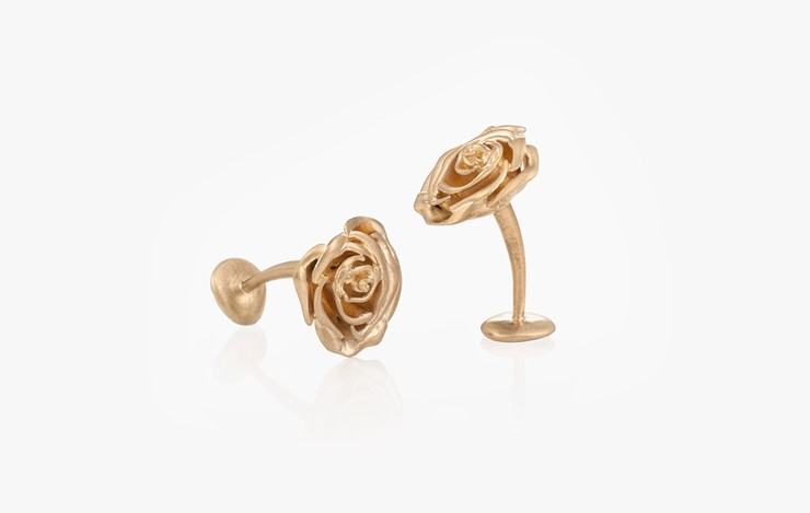 CIRCLE OF LIFE ROSE CUFFLINKS