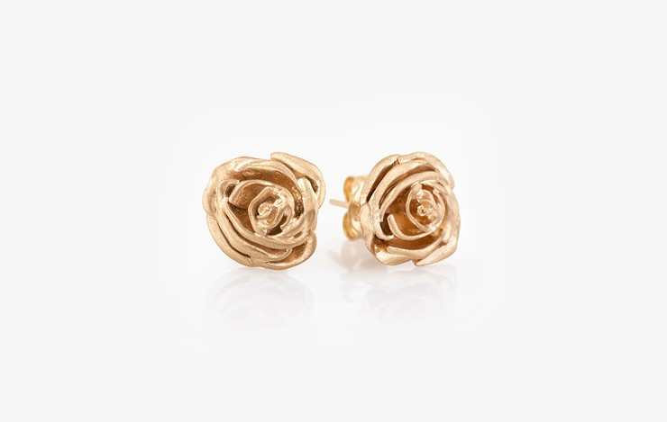 CIRCLE OF LIFE ROSE EARRINGS
