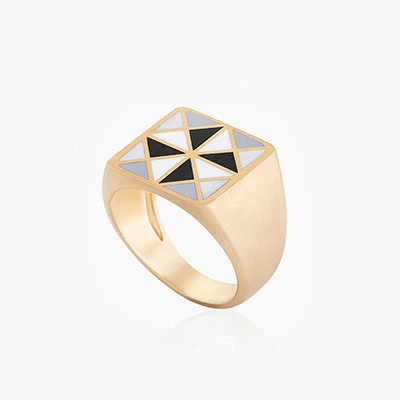 COLOR & FORM BLAT TRIANGLE RING