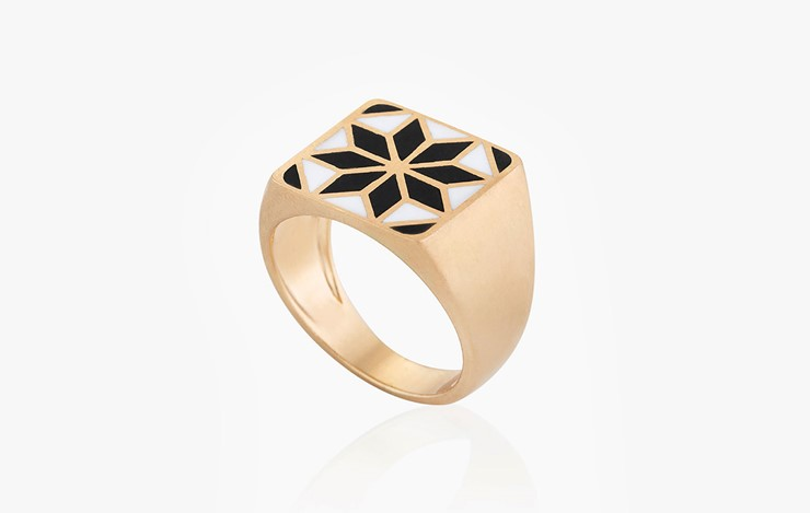 COLOR & FORM BLAT STAR RING