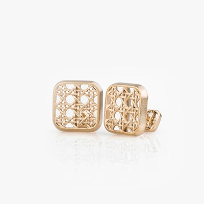HIS KHAIZARAN SQUARE CUFFLINKS