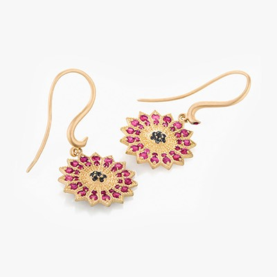 POWER OF LIGHT LOTUS FULL MINI EARRINGS