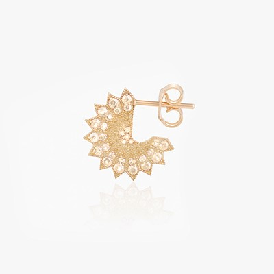 POWER OF LIGHT LOTUS FULL SMALL DIAMOND EARRINGS