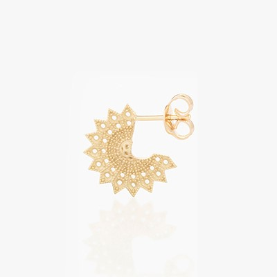 POWER OF LIGHT LOTUS FULL SMALL PURE EARRINGS