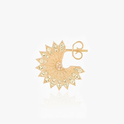 POWER OF LIGHT LOTUS FULL BIG DIAMOND EARRINGS