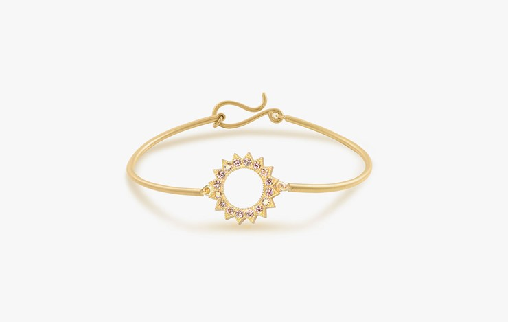 POWER OF LIGHT VENUS STRIPE DIAMOND BANGLE