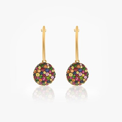 BABY MALAK ORIGINAL DROP BONBON ROUND EARRINGS