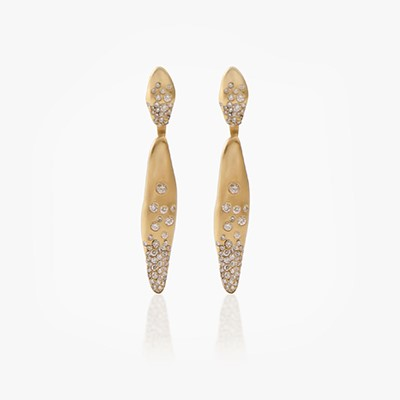 BABY MALAK FLOURISH LONG MARQUISE EARRINGS