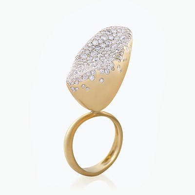 BABY MALAK FLOURISH BIG MARQUISE RING