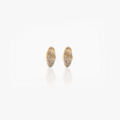 BABY MALAK FLOURISH HALF MINI MARQUISE EARRINGS