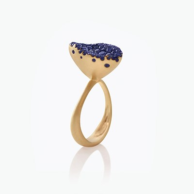 BABY MALAK FLOURISH BONBON SMALL MARQUISE RING