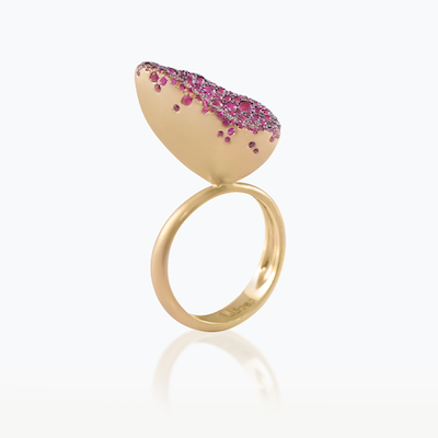 BABY MALAK FLOURISH BONBON MEDIUM MARQUISE RING