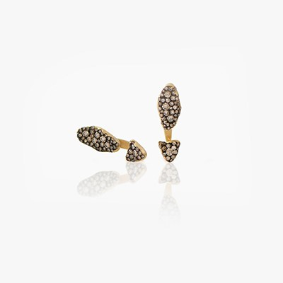 BABY MALAK FLOURISH FULL MINI MARQUISE EARRINGS