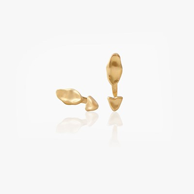 BABY MALAK FLOURISH PURE MINI MARQUISE EARRINGS