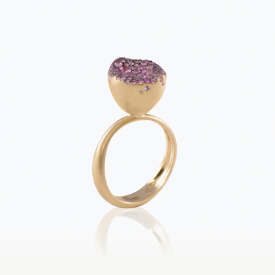 BABY MALAK FLOURISH BONBON SMALL ROUND RING