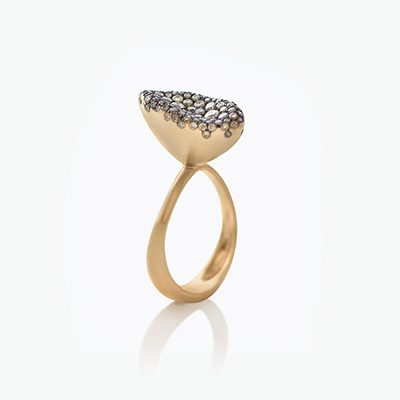 BABY MALAK FLOURISH SMALL MARQUISE RING