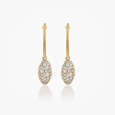 BABY MALAK ORIGINAL DROP MARQUISE EARRINGS