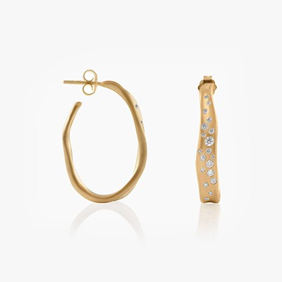 BABY MALAK HOOP OVAL EARRINGS