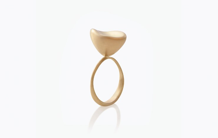 BABY MALAK FLOURISH PURE SMALL MARQUISE RING