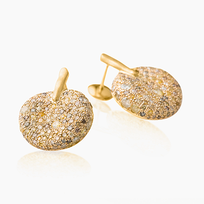 MALAK ICY ROUND EARRINGS