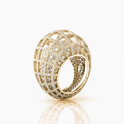 MATRIX DOUBLE DIAMOND RING