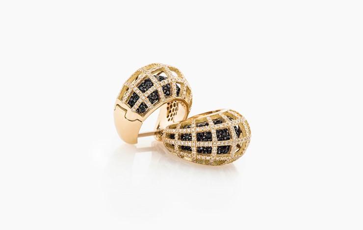 MATRIX DOUBLE DIAMOND EARRINGS