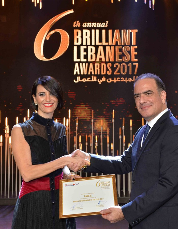 Nada G™ wins 'Woman Entrepreneur of the Year' 2017.